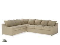 Xl Left Hand Cloud Corner Sofa in Hopsack Bamboo Softie