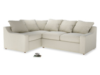 Large Left Hand Cloud Corner Sofa in Alabaster Bamboo Softie