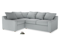 Large Left Hand Cloud Corner Sofa in Gull Grey Bamboo Softie
