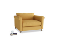 Weekender Love seat in Dorset Yellow Clever Linen
