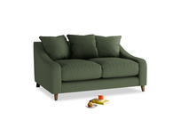 Small Oscar Sofa in Forest Green Clever Linen