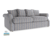 Medium Sloucher Sofa Bed in Brittany Blue french stripe