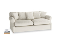 Large Crumpet Sofa Bed in Chalky White Clever Softie