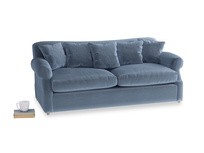 Large Crumpet Sofa Bed in Winter Sky clever velvet