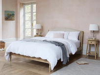 Fifi upholstered french bed with Agatha side table