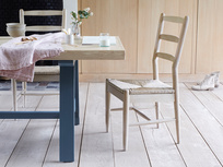 Trestle kitchen table with Hobnob natural farmhouse dining chair
