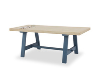 Trestle Table in Heritage Blue