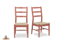 Pair of Hobnob Kitchen chairs in Earthy Red