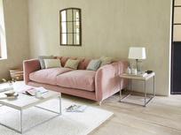 Boho Sofa in Chalky Pink Vintage Velvet
