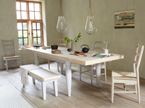 Scullery grey oak top dining table