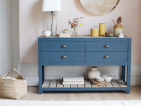 Provender painted blue kitchen sideboard