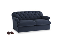 Medium Truffle Sofa Bed in Indigo vintage linen