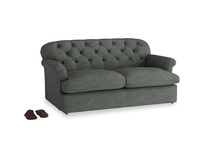 Medium Truffle Sofa Bed in Pencil Grey Clever Laundered Linen