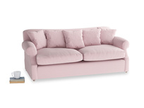 Large Crumpet Sofa Bed in Pale Rose vintage linen