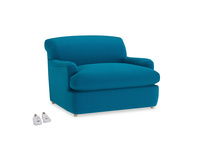 Pudding Love Seat Sofa Bed in Bermuda Brushed Cotton