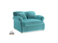 Crumpet Love Seat Sofa Bed in Belize clever velvet