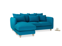 Large left hand Podge Chaise Sofa in Bermuda Brushed Cotton