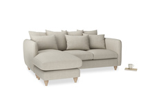Large left hand Podge Chaise Sofa in Thatch house fabric