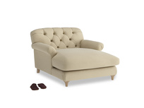 Truffle Love Seat Chaise in Hopsack Bamboo Softie