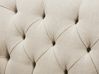 Truffle Chesterfield Love Seat Chaise Sofa Snuggler back detail