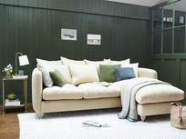 Podge Comfy L shaped Chaise Sofa