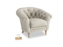 Tubbie Occasional Chair in Thatch house fabric