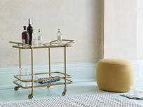 365253 little soak vintage brass drinks trolley