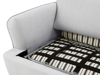 Smooch Scatter Cushion Back Corner Sofa Bed fold out detail