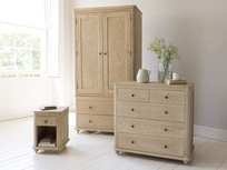 Meet the family - Amity bedside table, Élodie chest of drawers and Amory wardrobe