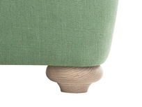 Smooch LA Cushion Back Deep Corner Sofa front leg detail