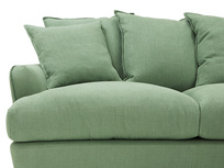 Smooch LA Cushion Back Deep Corner Sofa front seat detail