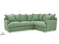 Smooch LA Cushion Back Large Corner Sofa angled
