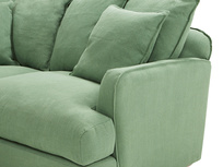 Smooch LA Cushion Back Deep Corner Sofa corner arm detail