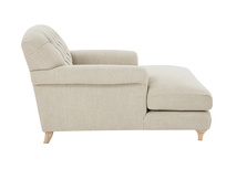 Truffle Chesterfield Love Seat Chaise Sofa Snuggler side