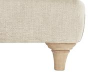 Truffle Chesterfield Love Seat Chaise Sofa Snuggler leg detail