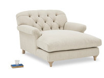 Truffle Comfy Chesterfield Love Seat Chaise Sofa Snuggler