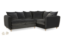 Podge LA Modern Deep L Shaped Corner Sofa