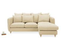 Podge Comfy Cushion Back L Shaped Chaise Sofa