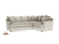 Large right hand Smooch Corner Sofa Bed in Thatch house fabric