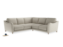 Even Sided Bumpster Corner Sofa in Thatch house fabric