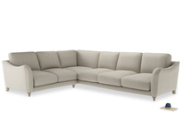Xl Left Hand Bumpster Corner Sofa in Thatch house fabric