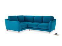Large Left Hand Bumpster Corner Sofa in Bermuda Brushed Cotton
