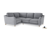 Large Left Hand Bumpster Corner Sofa in Dove grey wool