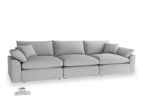 Large Cuddlemuffin Modular sofa in Pewter Clever Softie