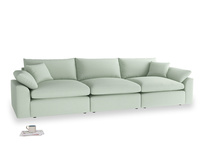 Large Cuddlemuffin Modular sofa in Soft Green Clever Softie