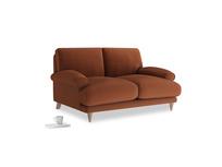 Small Slowcoach Sofa in Praline Plush Velvet