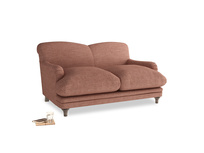 Small Pudding Sofa in Dried Rose Clever Laundered Linen