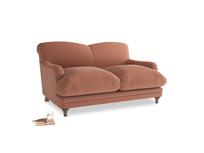 Small Pudding Sofa in Pinky Peanut Plush Velvet
