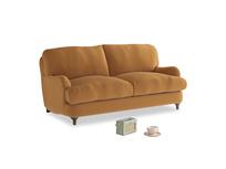 Small Jonesy Sofa in Caramel Plush Velvet