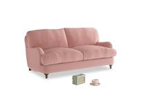 Small Jonesy Sofa in Vintage Pink Clever Velvet